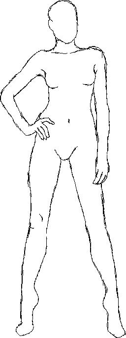 sketch female body by CraftyHandsbyFG