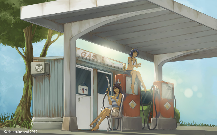 Gas Station by dead-robot