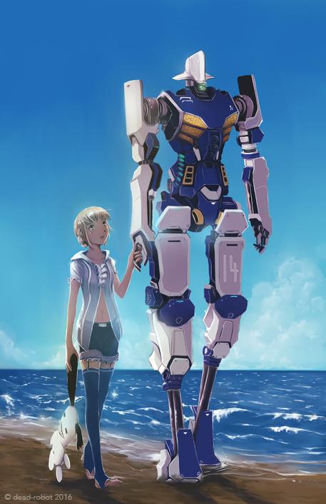 beach walk by dead-robot
