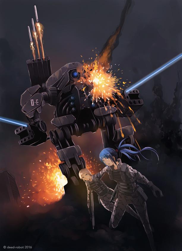 Mech Battle 02 by dead-robot
