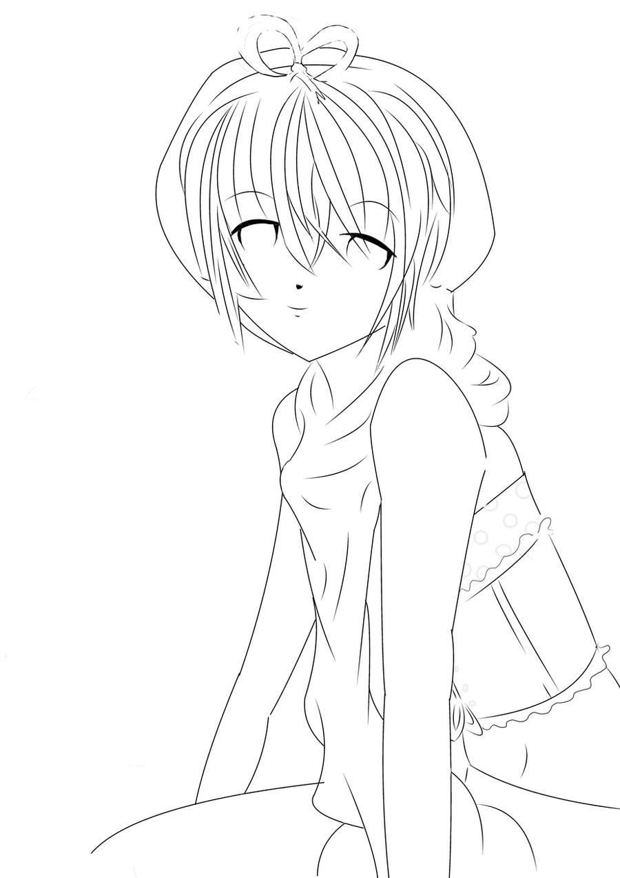 Anime Boy Lineart By Umetaki On Deviantart