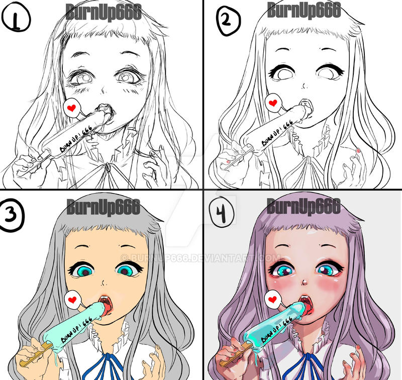 Illustration process by BurnUp666