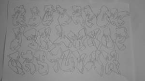 graffiti tattoo flash set 4