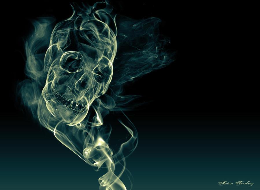 Skull of Smoke by Antewn on DeviantArt
