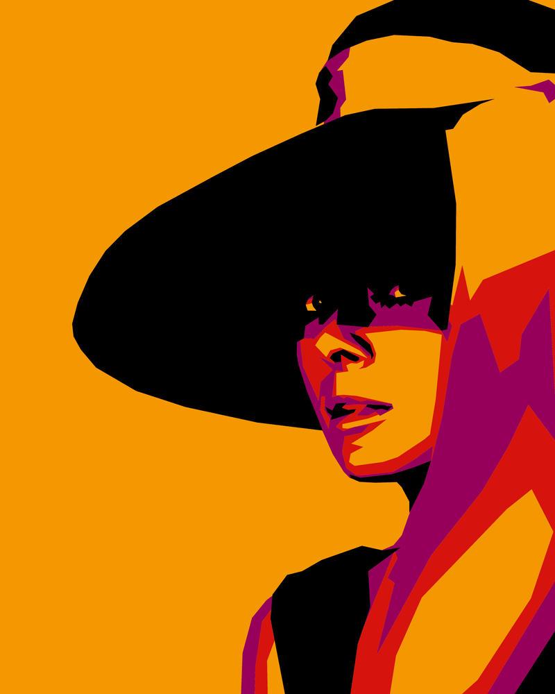 Audrey Hepburn by aaronu