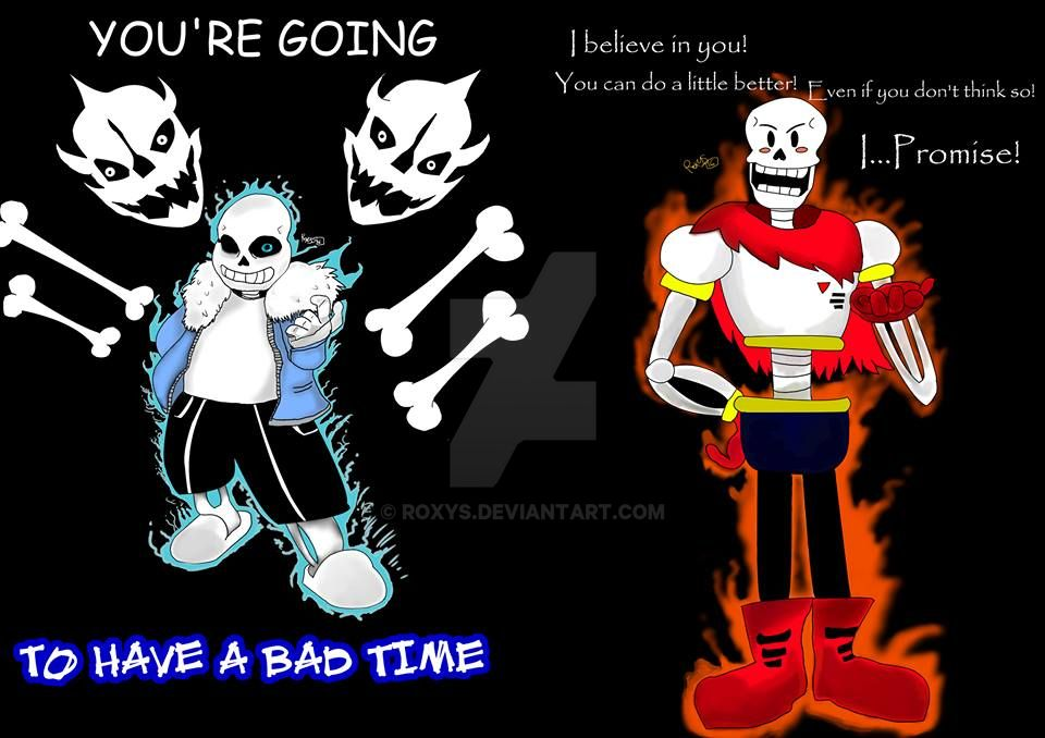 Undertale And Underswap Sans And Papyrus By Le0 Wolf On – Dibujos