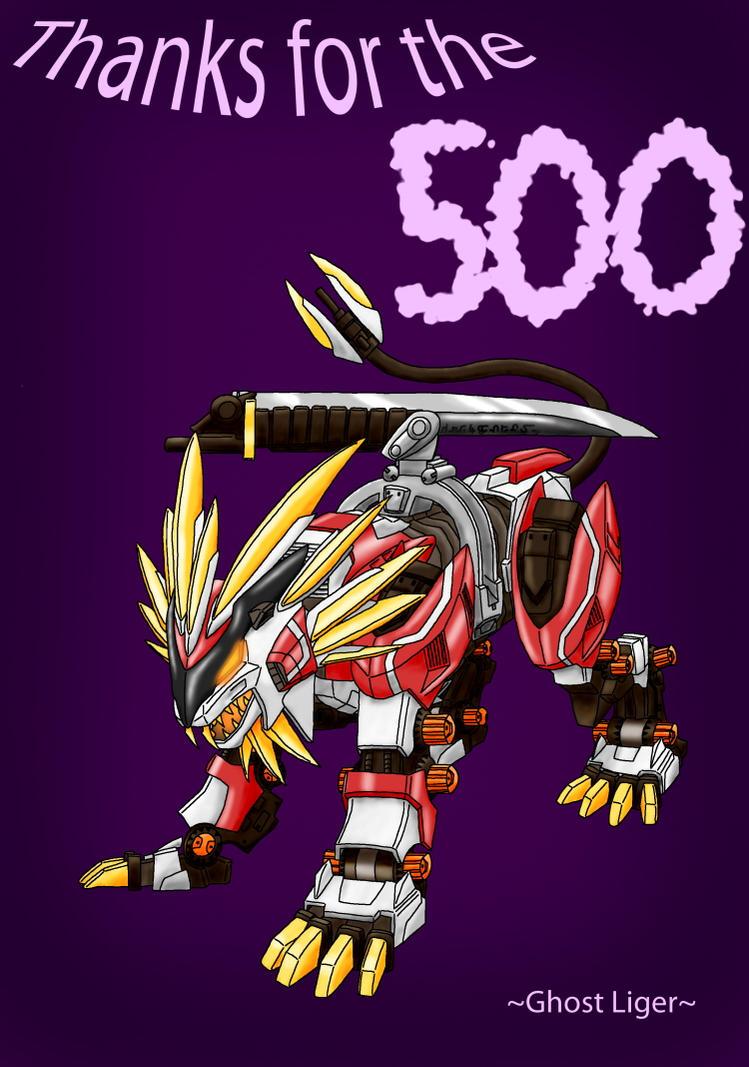 500 Hit Kiriban by GhostLiger