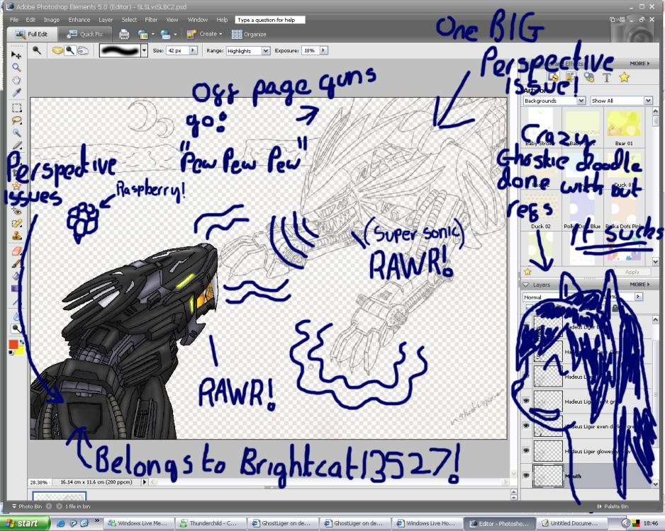 Zoid battle WIP by GhostLiger