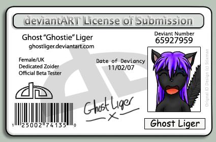 Ghostie's Photo ID by GhostLiger