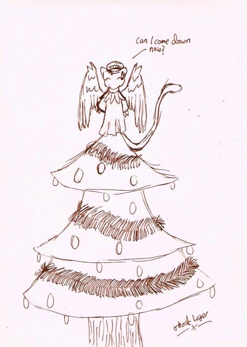 Christmas Tree Angel by GhostLiger