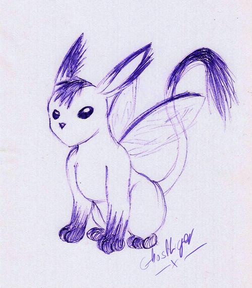 Crappy Biro Doodle -_-' by GhostLiger