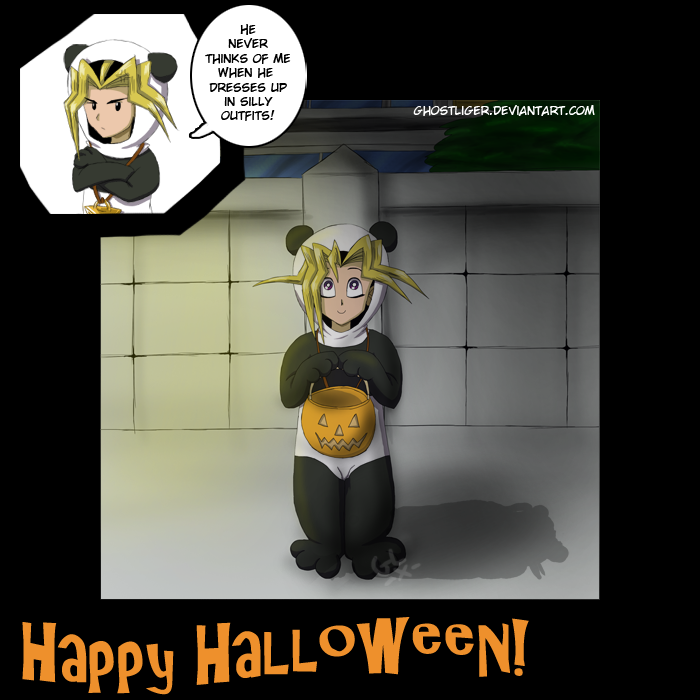 Trick or treat in Domino City by GhostLiger