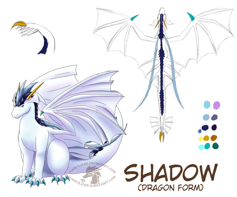 Shadow dragon ref by GhostLiger