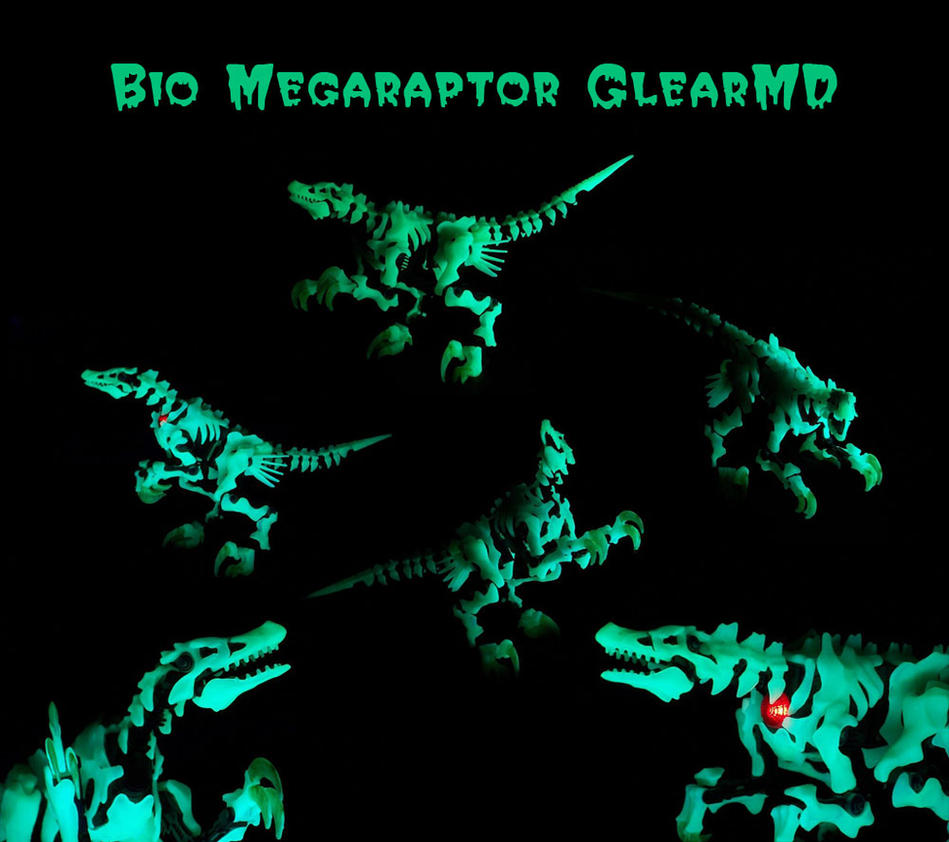 Glowey Megaraptor by GhostLiger