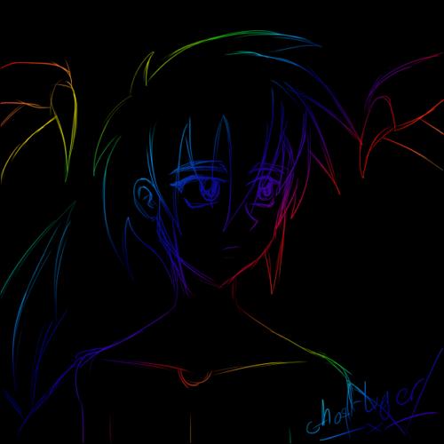 Rainbow scratch Shadow by GhostLiger