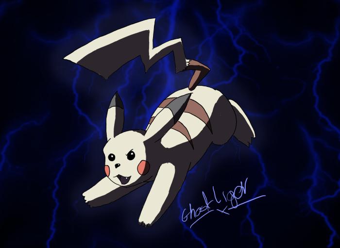 Ghostly Pikachu by GhostLiger
