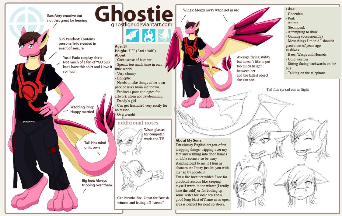 Ghostie as a dragon by GhostLiger