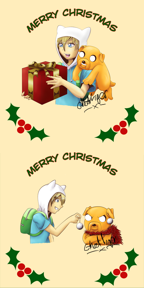Christmas Time with Finn and Jake by GhostLiger