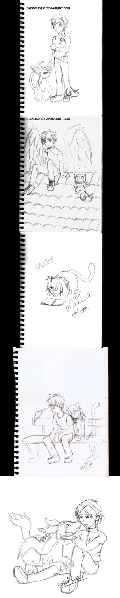 Old sketches by GhostLiger