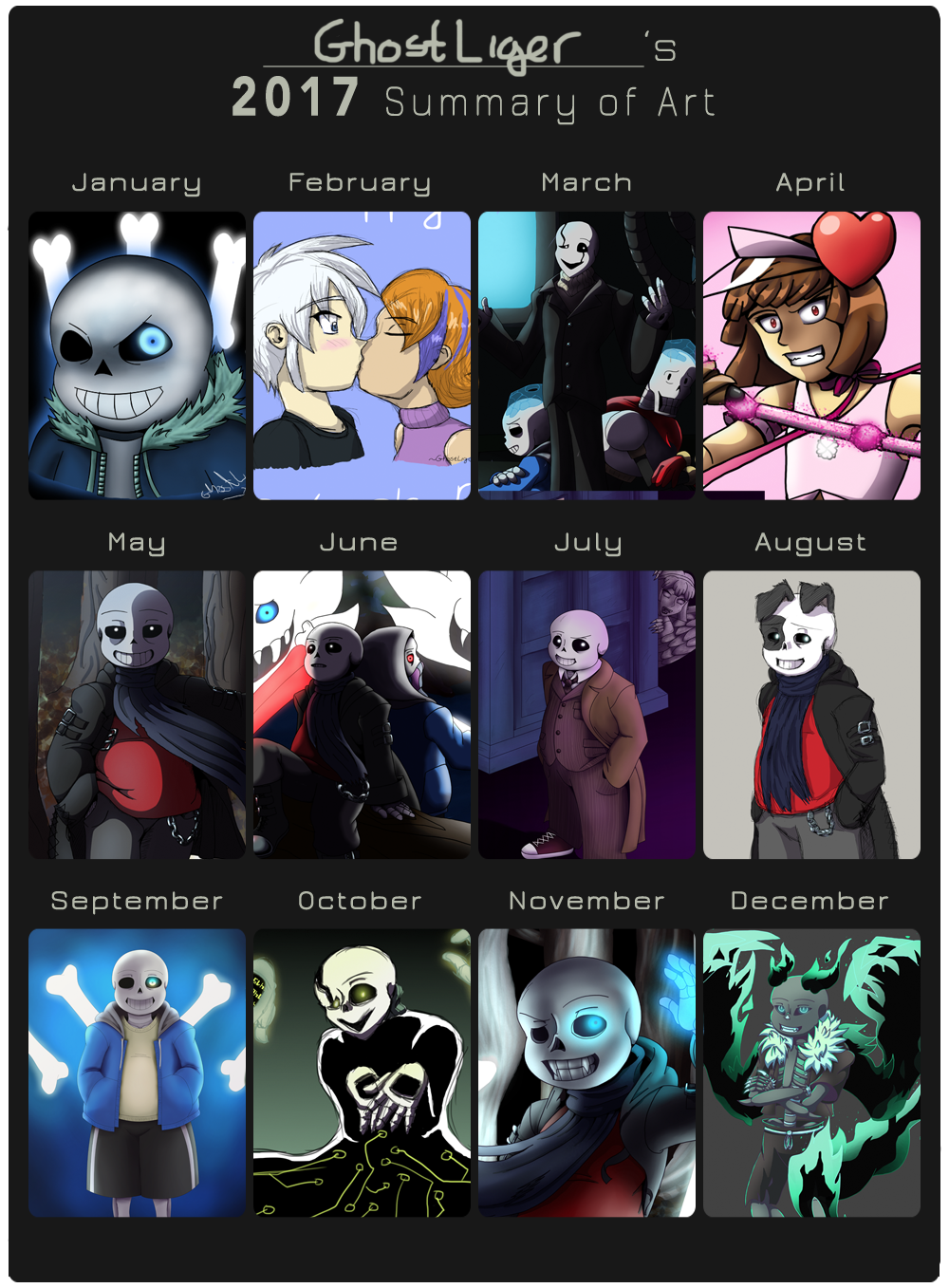 AKA the year Ghostie discovered Undertale. by GhostLiger
