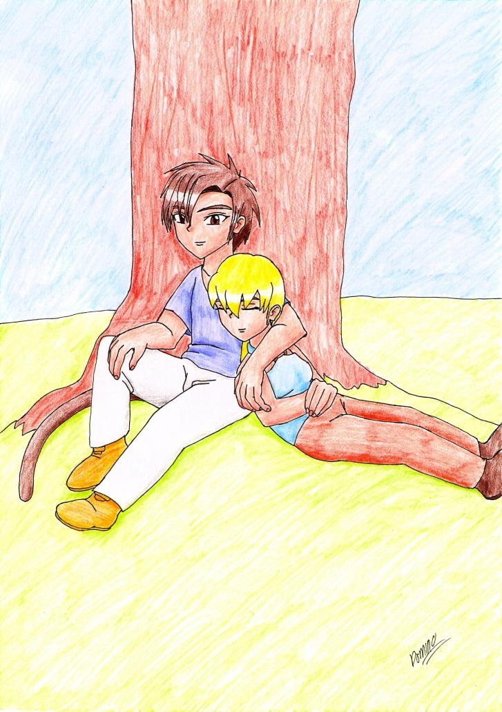 Zeke and Alex by GhostLiger