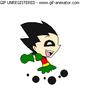Robin running by Crazy-Daydreamer