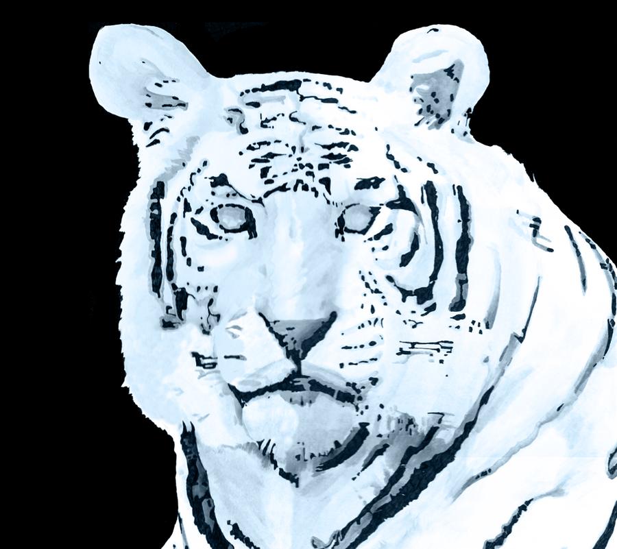 Digital Tiger by wolfeblackraven