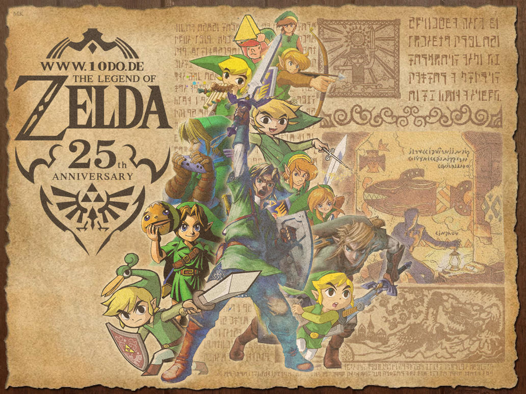 Zelda 25th Anniversary Wallpaper 43 By Marth89