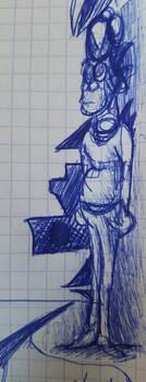 Un mechant avec un pull (doodle)