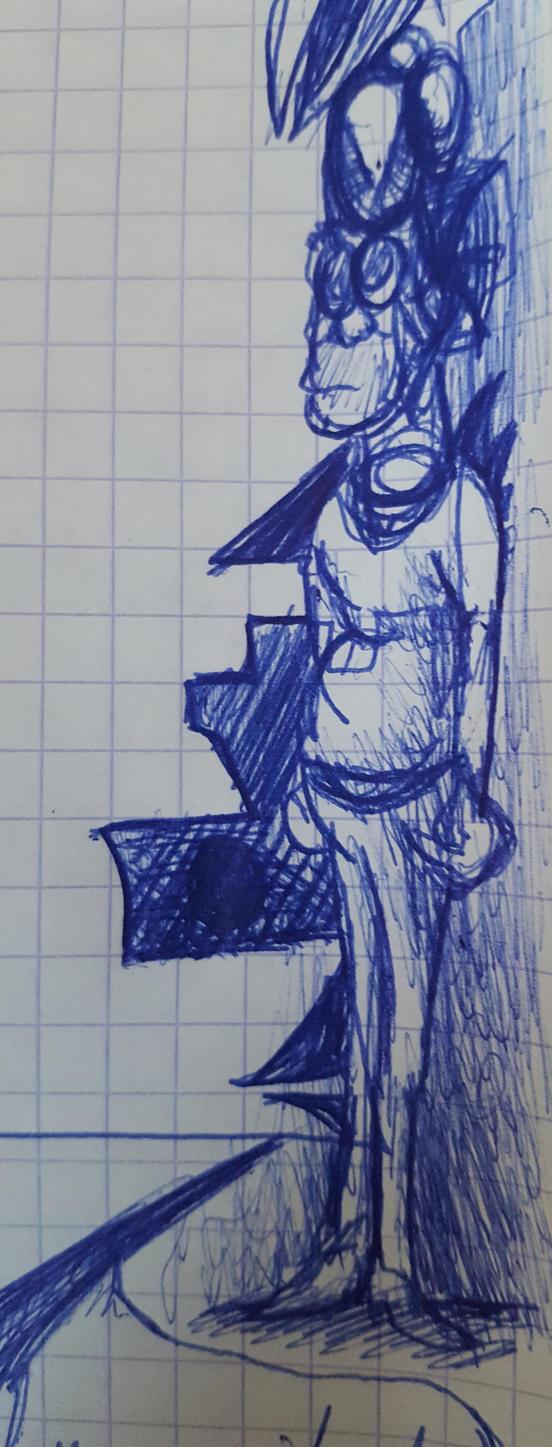 Un mechant avec un pull (doodle) by khajiit4444