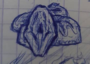 Un serpent (doodle) by khajiit4444