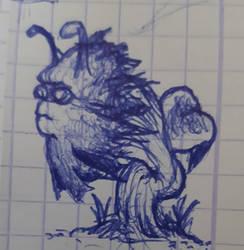 Une plante bizarre (doodle) by khajiit4444
