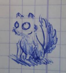 Un renard fantome (doodle) by khajiit4444