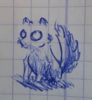 Un renard fantome (doodle)