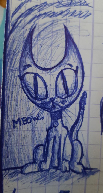 Une chatte -meow- (doodle) by khajiit4444