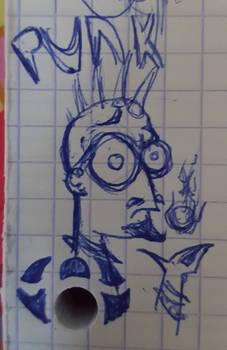 Un punk hipster (doodle)