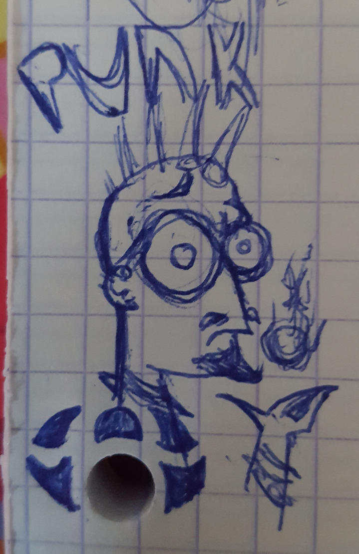 Un punk hipster (doodle) by khajiit4444