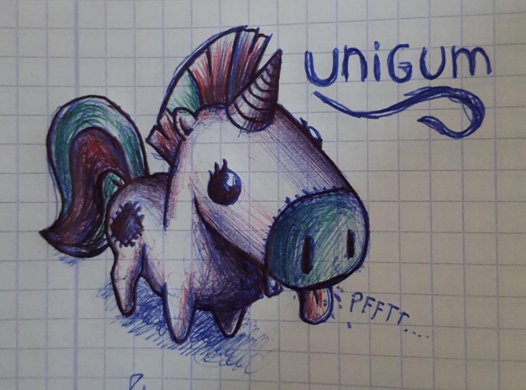 Unigum (doodle) by khajiit4444