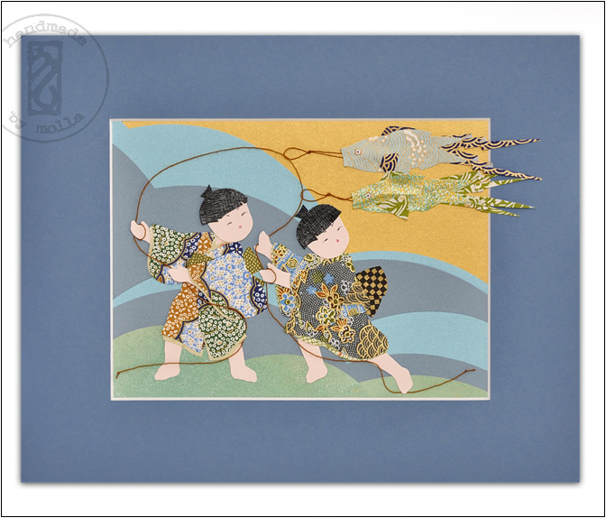 boys with koinobori by molligami
