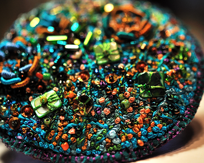 encrusted embroidery brooch by molligami