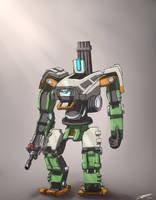 [Sketch] Overwatch - Bastion by Teamkill4
