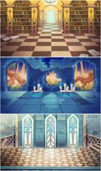 Wand Academy Background Art by Magochocobo