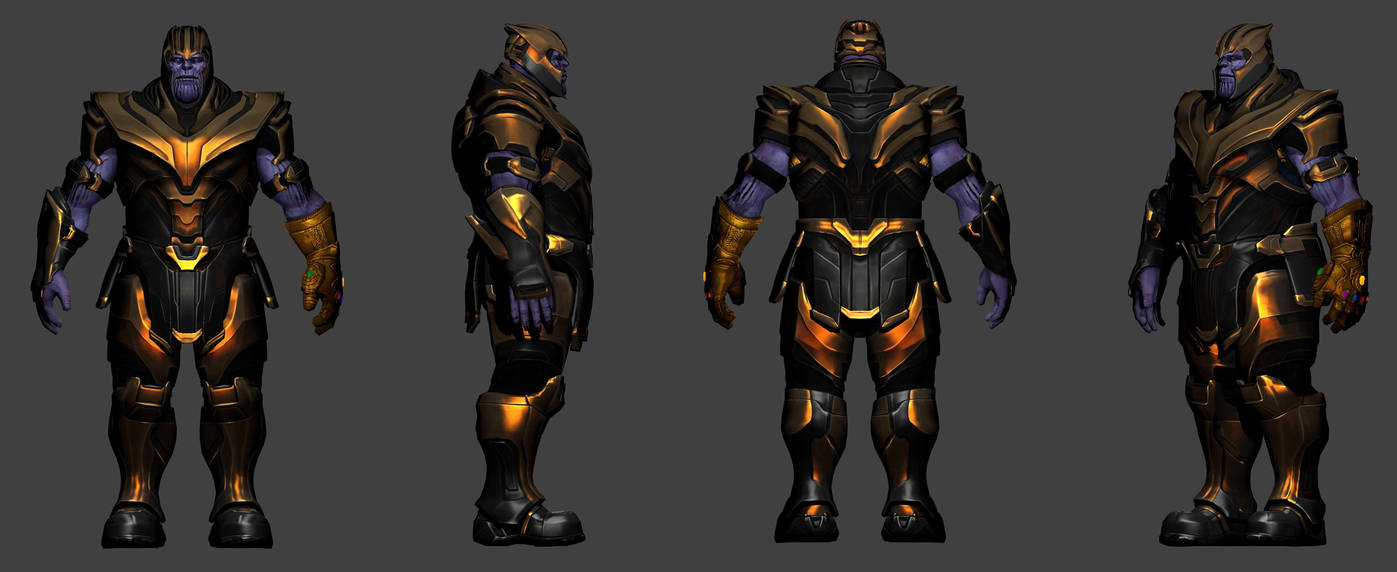Thanos Future Fight with Armor by carlosgremio86 on DeviantArt