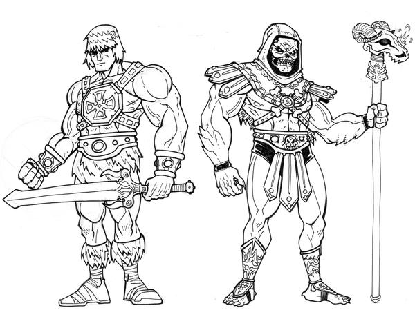 Heman And Skeletor By Ha Gfx On Deviantart