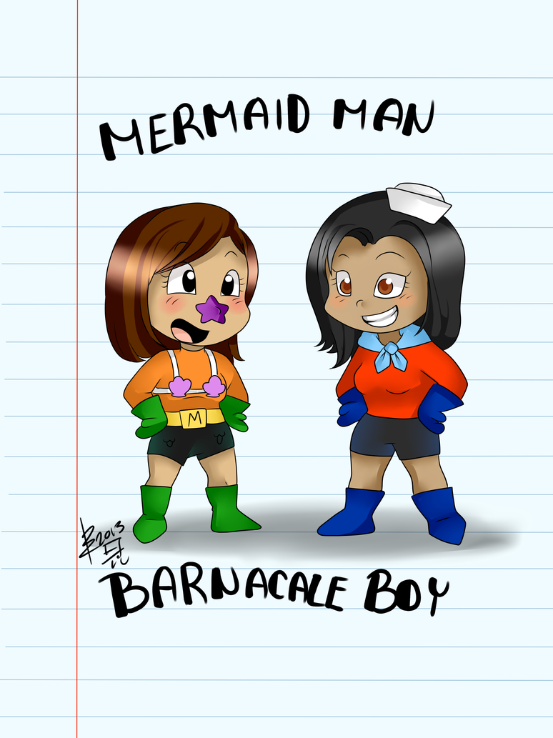 Request- Mermaid Man and Barnacle Boy. by Otakuwarfare .  sc 1 st  Otakuwarfare - DeviantArt & Request- Mermaid Man and Barnacle Boy:. by Otakuwarfare on DeviantArt