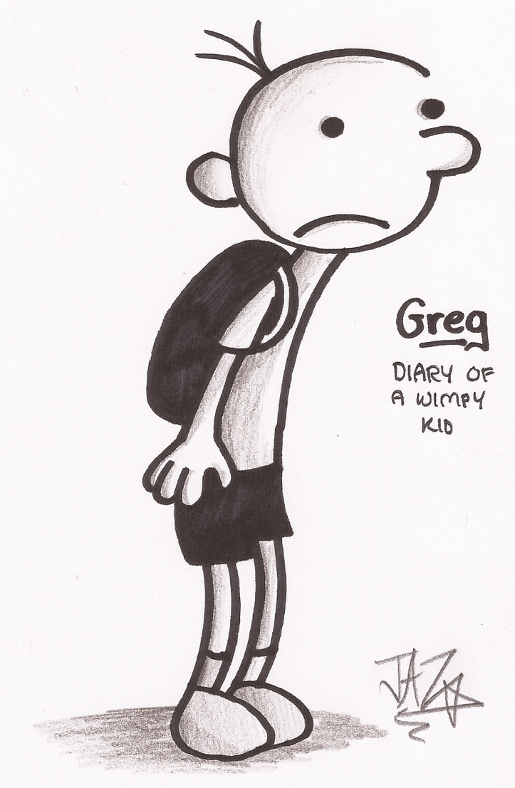 This is an image of Peaceful Diary Of A Wimpy Kid Drawing