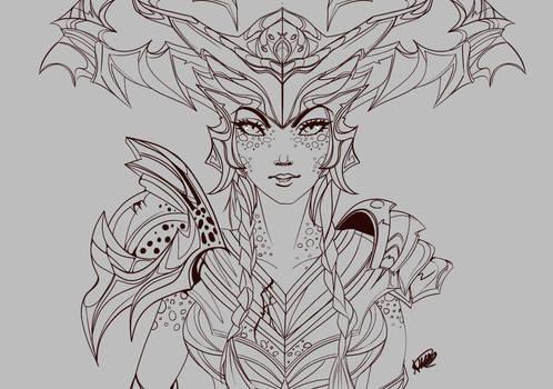Shyvanna unfinished fan art