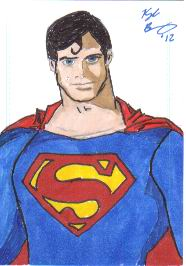 Christopher Reeve Inspired Superman Sketch Card by KyleBenning
