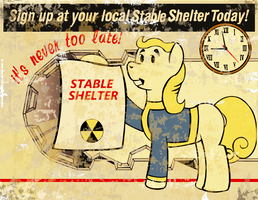 Fallout: Equestria Poster (Stable-Tec) by anon2lol
