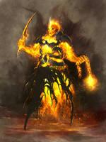 fire elemental by Skulio